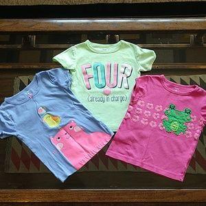 Carter's, girl's 4T shirt bundle